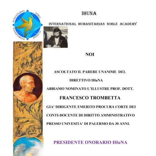 Attestato Francesco Trombetta