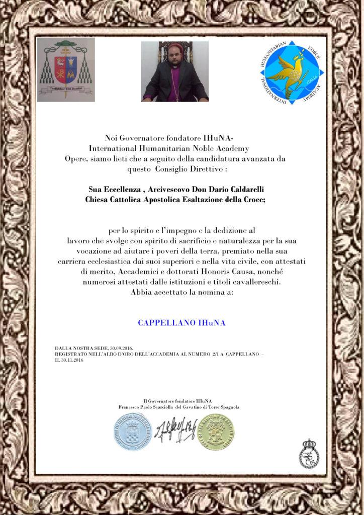 Attestato Dario caldarelli