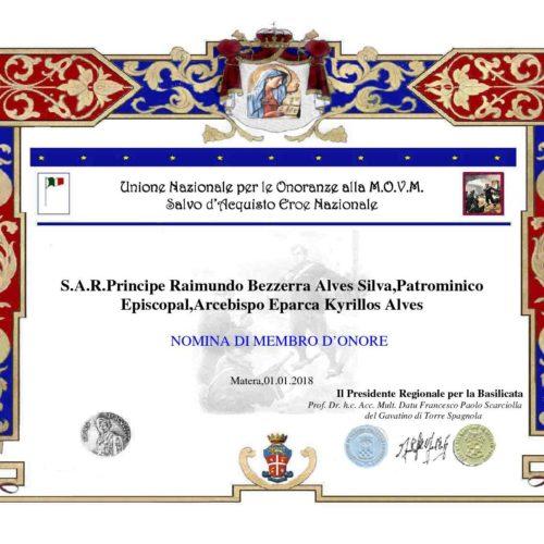 Attestato Raimundo Bezzerra