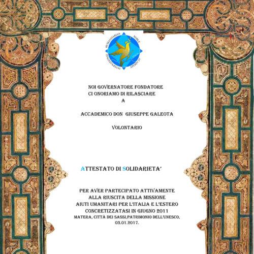Diploma Giuseppe Galeota