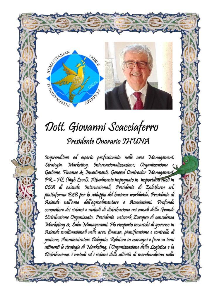Attestato Giovanni Scacciaferro